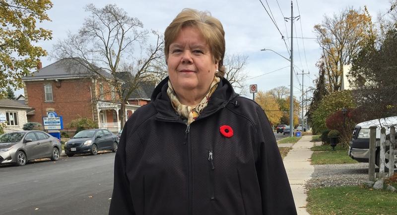 Mayor Mary French speaks in Aylmer, Ont. on Tuesday, Nov. 3, 2020. (Bryan Bicknell / CTV News)