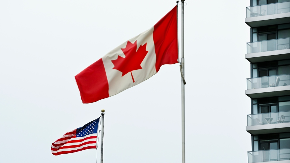 U.S. and Canada flags