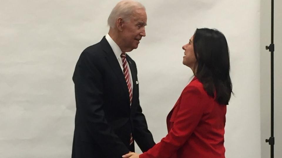 Valerie Plante with Joe Biden