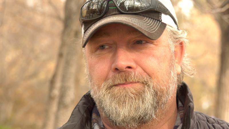 Mark Friesen speaking to CTV News in a Saskatoon park on Nov. 4, 2020.  (Laura Woodward/CTV News)