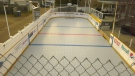 This backyard rink in Red Deer was built in 2000 and is used year round for hockey, floor hockey and basketball. Nov. 4, 2020. (CTV News Edmonton)