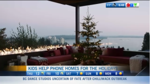 Homes for the Holidays, Kids Help Phone