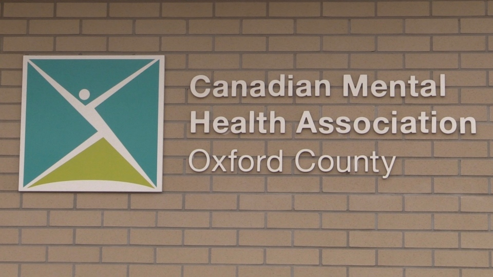 The Canadian Mental Health Association in Oxford County, Ont. is seen Thursday, Nov. 5, 2020. (Celine Zadorsky / CTV News)