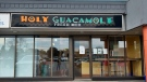 Holy Guacamole was targeted by an armed robber on Wednesday (Carmen Wong / CTV News Kitchener)