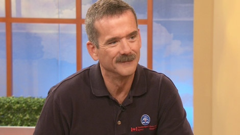 Canadian astronaut Chris Hadfield appears on Canada AM on Tuesday, Oct. 20, 2009.