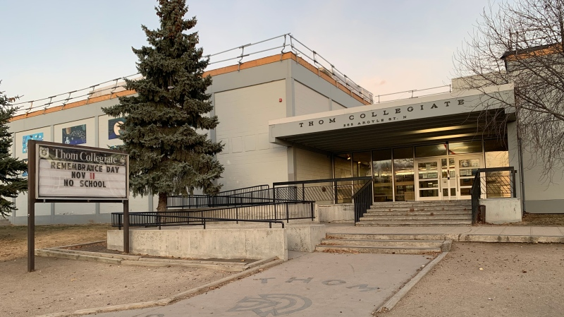 Thom Collegiate will be closed until Nov. 16, after multiple students tested positive for COVID-19. (Marc Smith/CTV News)