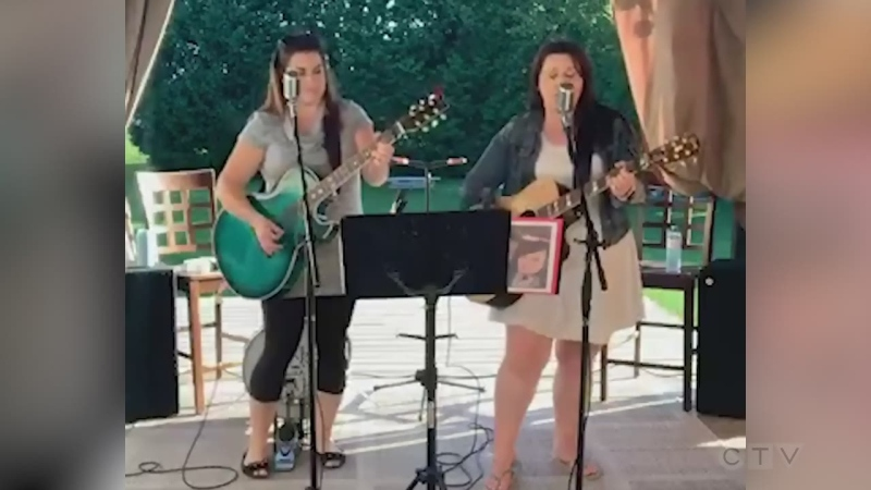 Sudbury's Chicks with Picks - Melanie Morin and Nancy Palladino - cover Pink Floyd's 'Wish You Were Here.