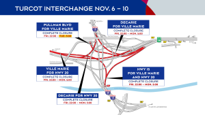 Turcot Interchange closures Nov. 6-10