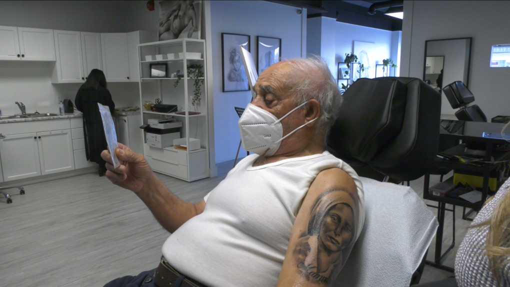 Pasquale Lento, 86, gets first tattoo