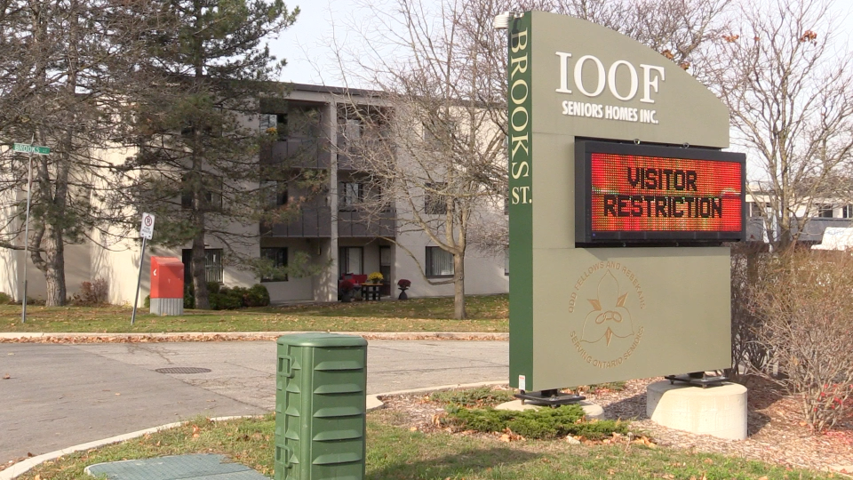 I.O.O.F. seniors' home in Barrie, Ont. (Mike Arsalides/CTV News)