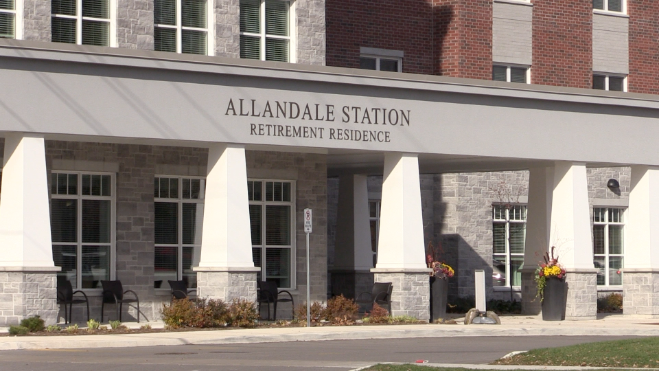 Allandale Station Retirement Residence in Barrie, Ont. (Mike Arsalides/CTV News)