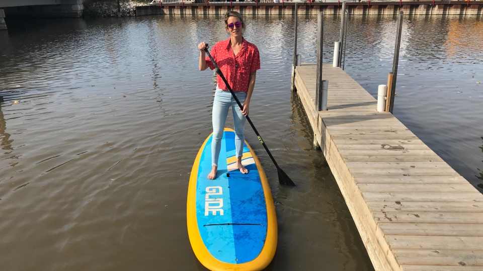 Urban Surf co-owner Danielle Chevalier on Nov. 6, 2020. (Angelo Aversa / CTV Windsor)