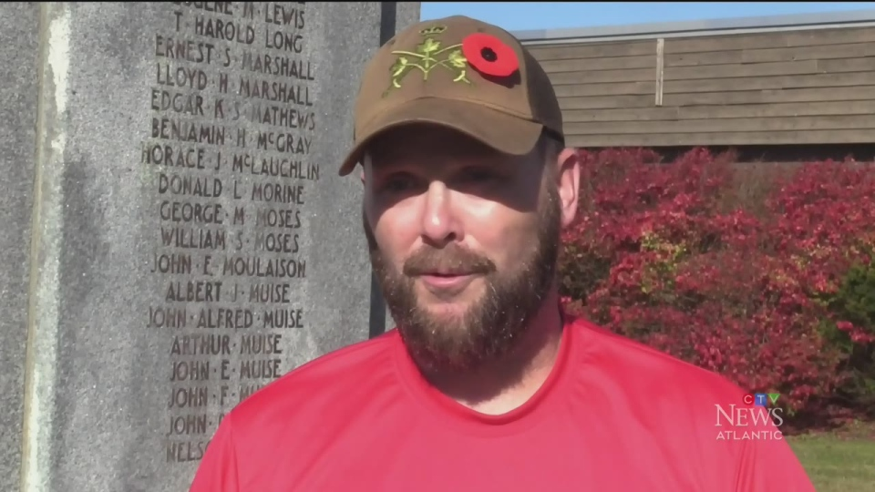 Soldier walks for wounded warriors
