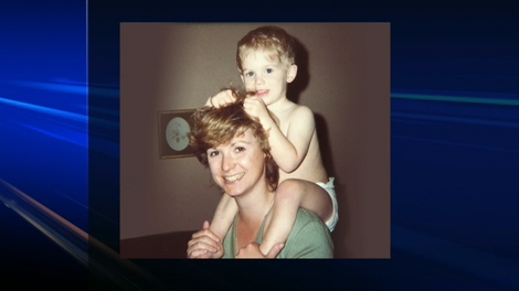 Chris Skinner is seen here in this childhood photo with his mother.