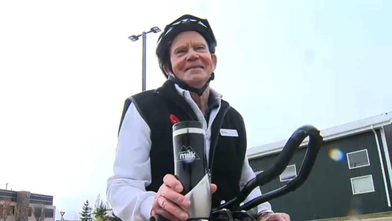 Jim Van Brunt walks and cycles every day and he's our Athlete of the Week. Glenn Campbell reports