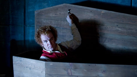 In this film publicity image released by Universal Pictures, John C. Reilly is shown in a scene from, �Cirque Du Freak: The Vampire's Assistant�. (AP / Universal Pictures, David Lee)