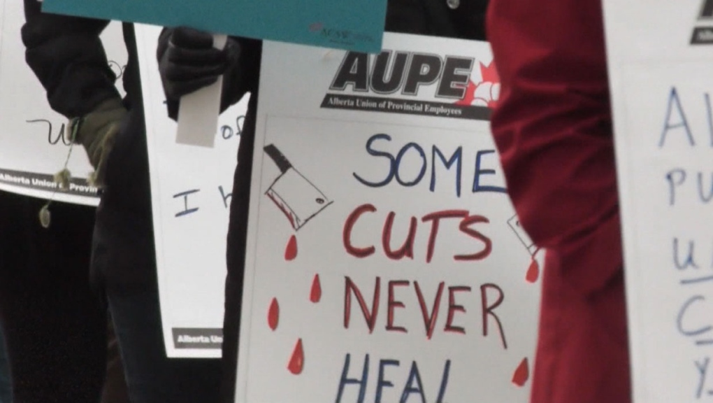 calgary, public service workers, cuts, labour cost