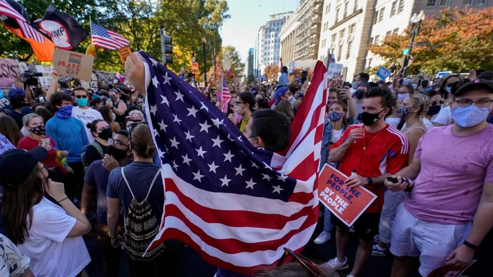 Biden Trump crowd