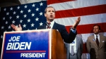 During a press conference, American politician US Senator Joseph Biden announces his intention to run for the Democratic Party nomination's for President of the United States, Washington DC, June 9, 1987. (Photo by Howard L. Sachs/CNP/Getty Images)