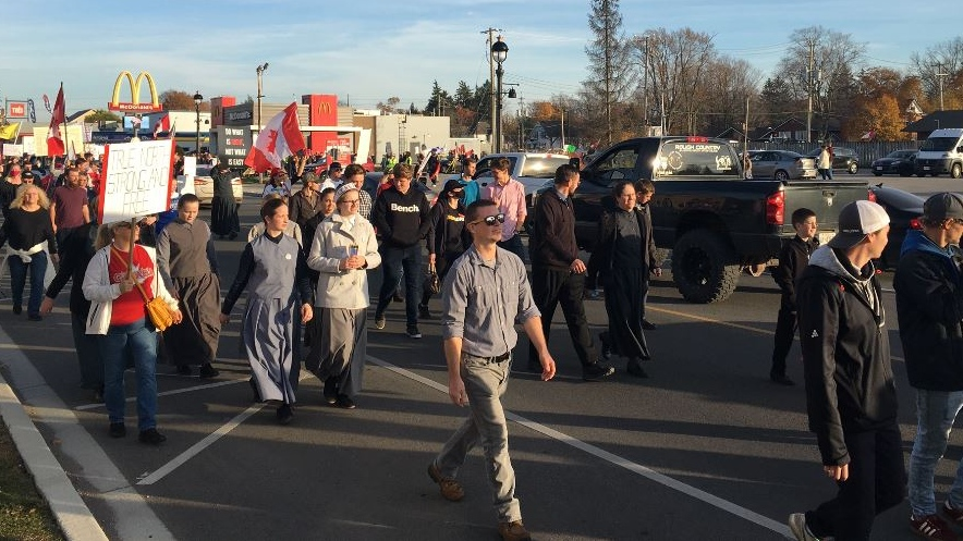 Freedom March in Aylmer Ont.