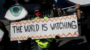 Activists and scientists feared further climate change destruction from another four years of Trump in denial in the White House. (AFP)