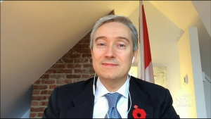 Foreign Affairs Minister Francois-Philippe Champagne