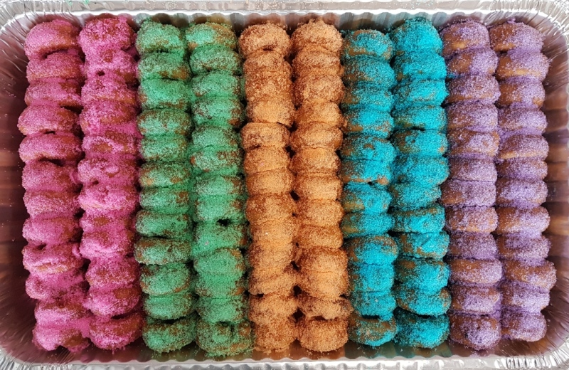 Donut Diva's Rainbow Party Pack of mini donuts (Source: Dee Spencer)