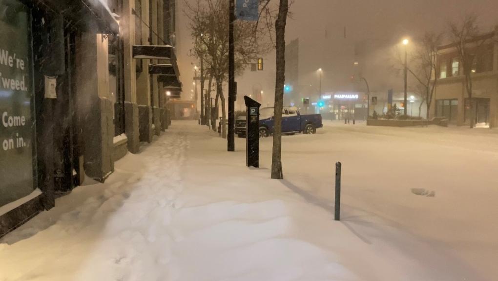 Saskatoon snow storm 2020