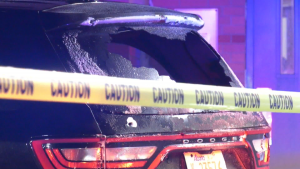 This SUV arrived at Grey Nuns Hospital after a shooting on Nov. 8, 2020.