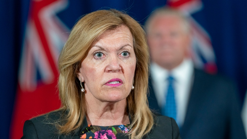 Ontario Health Minister Christine Elliott answers questions at the daily COVID-19 briefing at Queen's Park in Toronto on Monday June 29, 2020. THECANADIAN PRESS/Frank Gunn