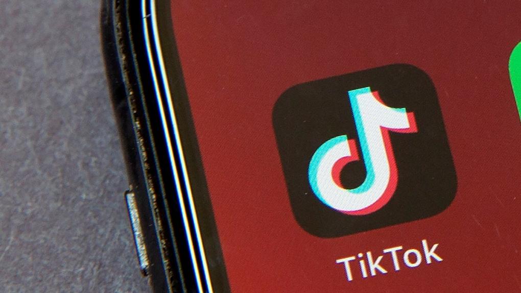 TikTok on a smartphone screen