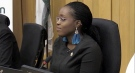 City Councillor Arielle Kayabaga is seen at City Hall in London, Ont. in this file photo. (Daryl Newcombe / CTV News)
