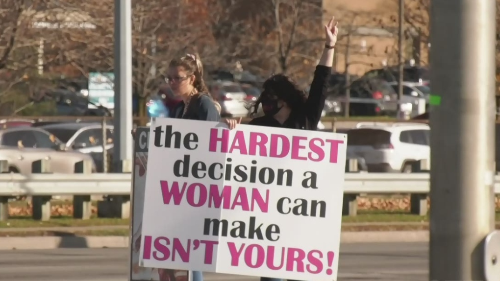 Pro-choice advocates work to block graphic images