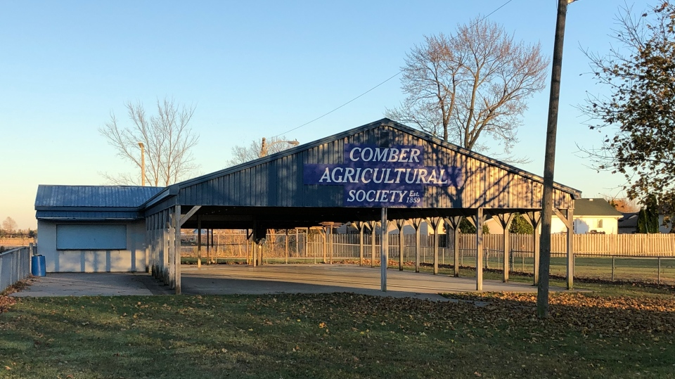 The Comber Agricultural Society pavilion in Comber, Ont. on Tuesday, Nov. 10, 2020. (Angelo Aversa/CTV Windsor)