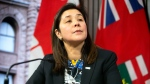 Dr. Eileen de Villa, Medical Officer of Health for the City of Toronto attends a news conference in Toronto, on Monday, January 27, 2020. THE CANADIAN PRESS/Chris Young