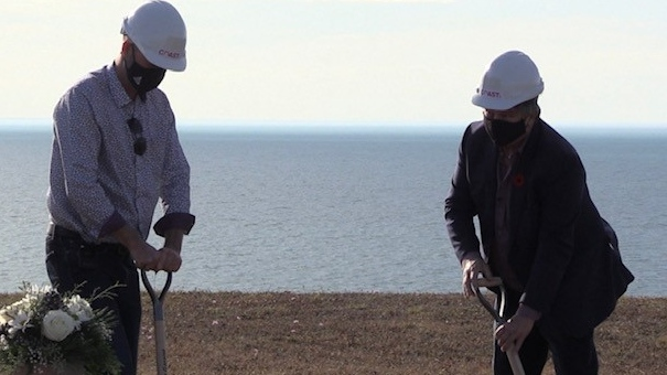construction starts on shoreline in Goderich