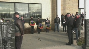 It was an emotional moment as veterans gathered to pay their respects at Sudbury's Afghanistan war memorial.