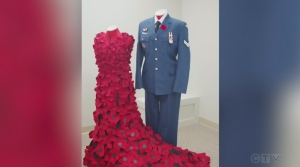 Julie Gohm from JMI Design Studio talks to Tony Ryma about the poppy dress created to acknowledge the sacrifices of fallen soldiers.