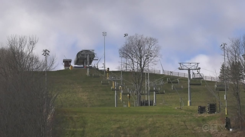 Snow hasn't hit the ground at the region's ski resorts, but online passes are selling out. Nov. 11, 2020.  (Lexy Benedict/CTV News)