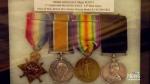 War medals return home