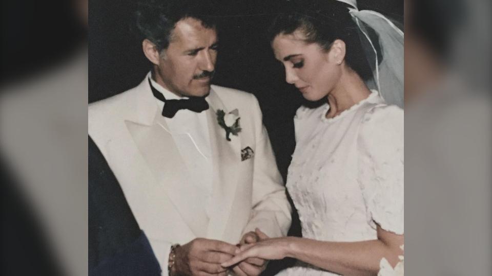 Alex Trebek and Jean Trebek wedding day