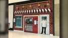 A Cake ATM is now selling cakes from Carlo's Bakery in the Rideau Centre. (Leah Larocque/CTV News Ottawa)