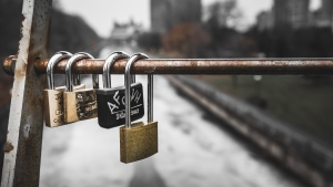 Love locks on Corktown Bridge over the Rideau Canal in Ottawa, Ont. (Photo by Jesse Little of Unsplash)
