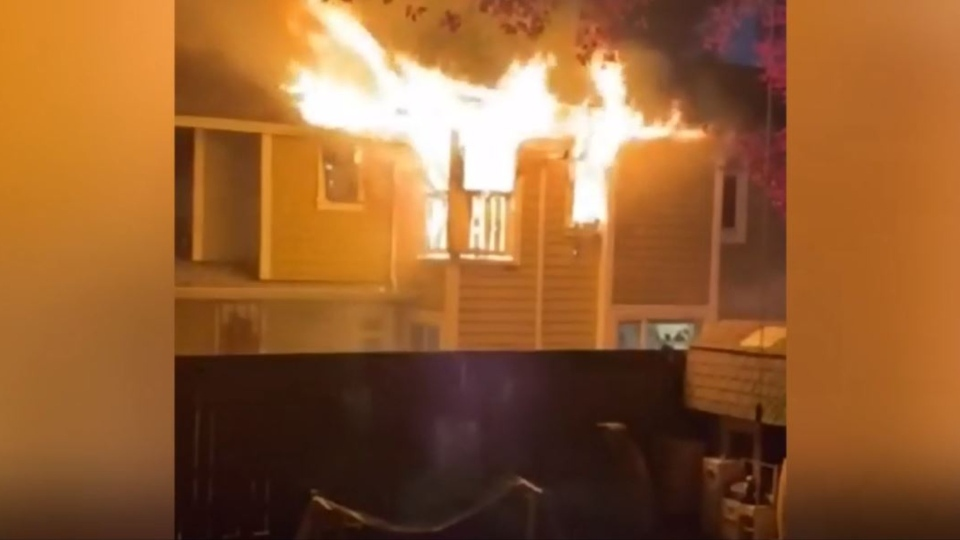 No injuries have been reported after a fire erupted in a Victoria home: (Submitted)