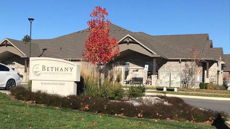 Bethany Care Home in Norwich Ont. on Nov. 12, 2020. (Sean Irvine/CTV London)