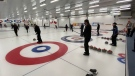 The Royal Canadian Navy Curling Club has reopened after closing due to the pandemic in March, with new restrictions in place. Nov. 12, 2020. Ottawa, ON. (Tyler Fleming / CTV News)