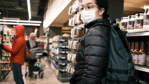 Grocery store patrons in Ottawa, Ont. wear masks to protect against COVID-19. (Photo by: Philippe Beliveau of Unsplash)