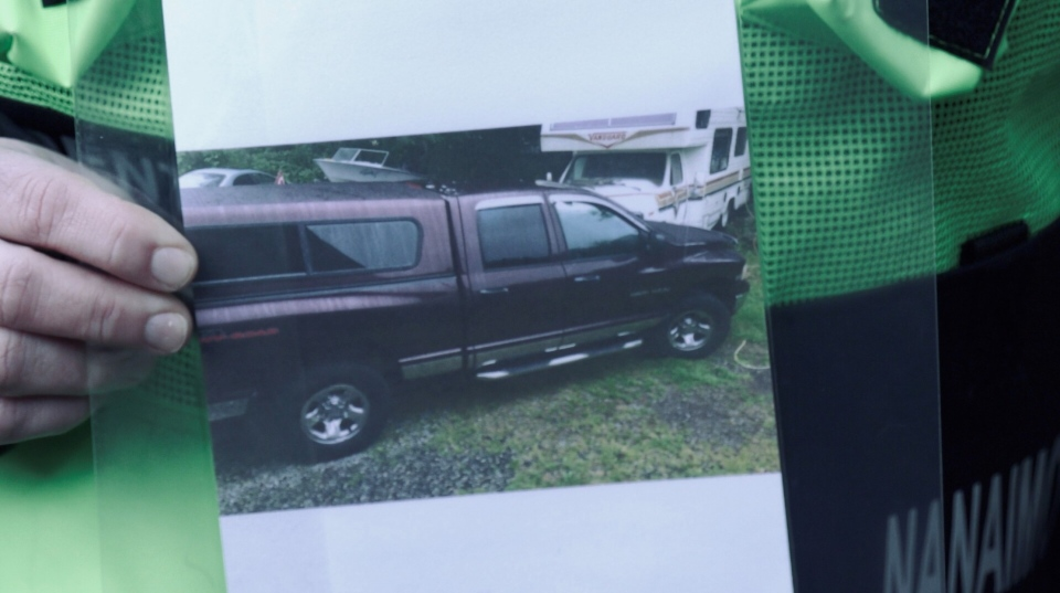 A photo of the missing couple's truck is shown.