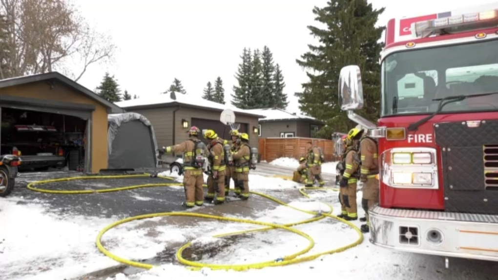 Calgary Fire Department responded to a garage fire
