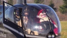 Santa Claus arrives at Parade in Helicopter, seen at London International Airport on Saturday Nov 14, 2020 (Scott Miller/ CTV News)